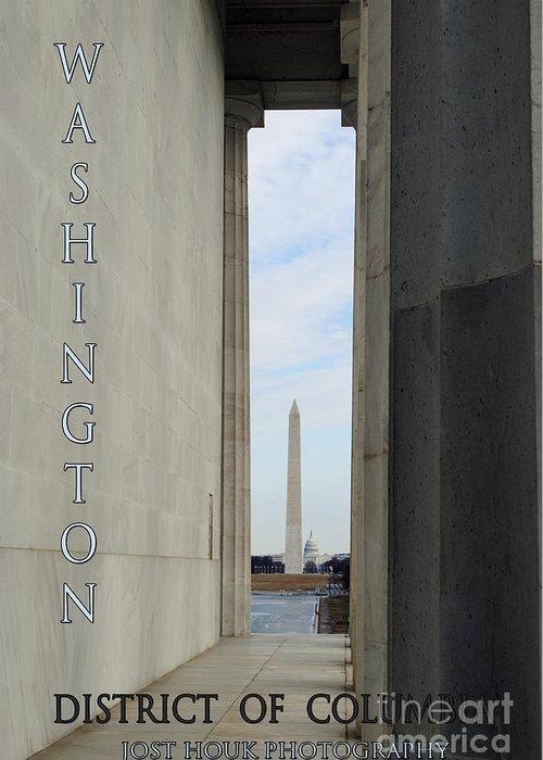 Washington Greeting Card featuring the photograph Washington Monuments Travel by Jost Houk