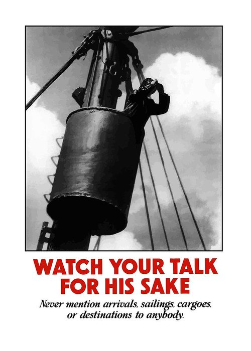 Sailor Greeting Card featuring the painting Watch Your Talk For His Sake by War Is Hell Store