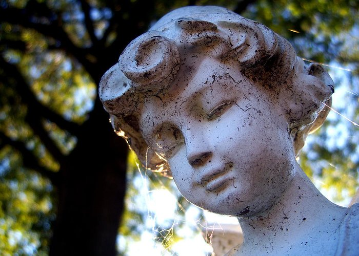 Statue Greeting Card featuring the photograph Watching Over You by Alexandra Harrell