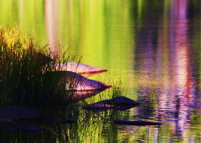 Lake Greeting Card featuring the photograph Water Abstract 1 by Russell Barton