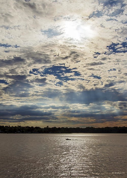 2d Greeting Card featuring the photograph Water And Sky by Brian Wallace