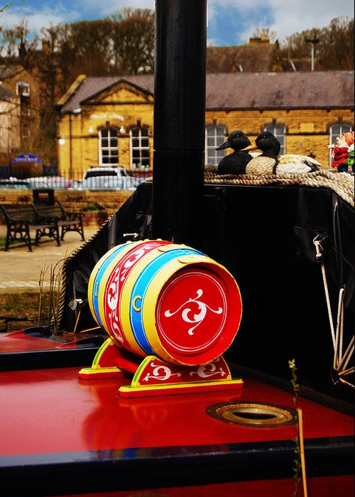 Barrel Greeting Card featuring the photograph Water Barrel by Peter Jenkins