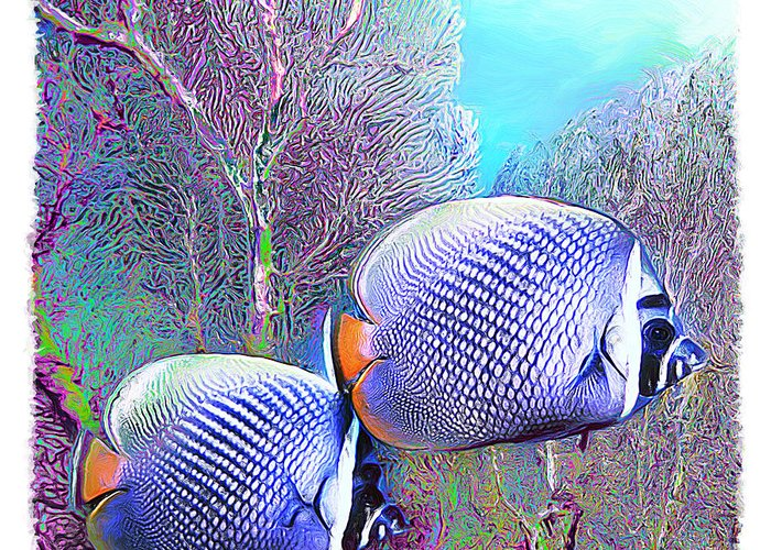Fish Greeting Card featuring the digital art Water Boy 4 by Marcos Germano Zimmermann