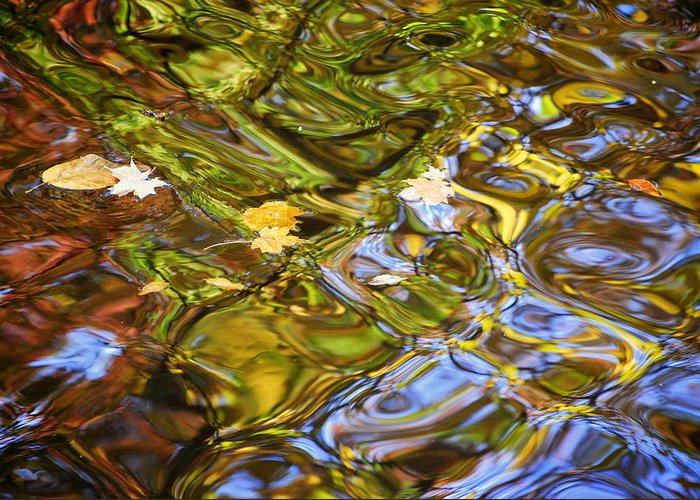 Water Greeting Card featuring the photograph Water Prism by Frozen in Time Fine Art Photography