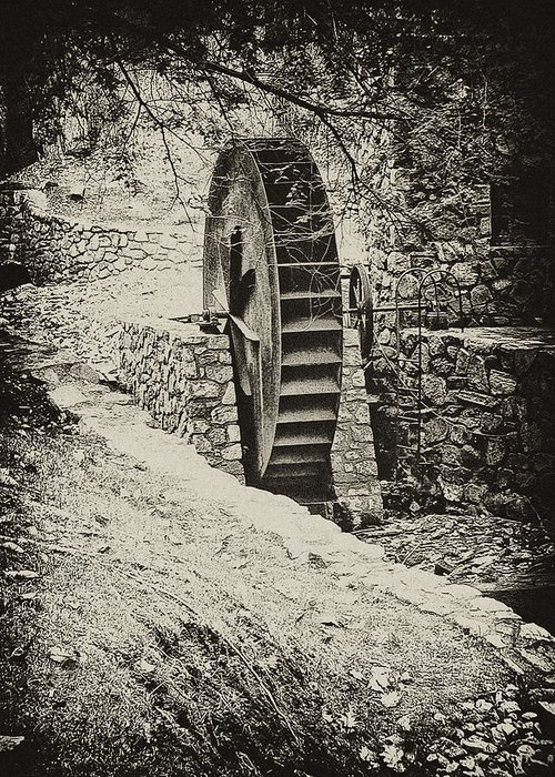 Gladwyne Greeting Card featuring the photograph Water Wheel by Bill Cannon