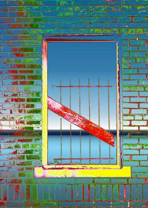 Window Greeting Card featuring the photograph Water Window 2 by Tim Allen