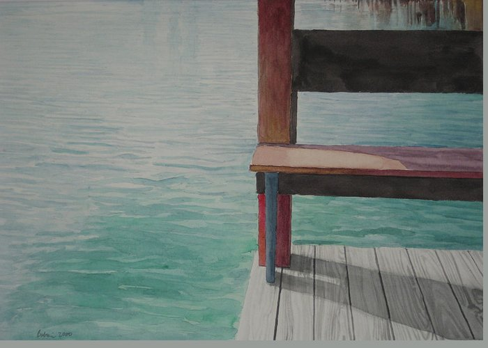 Waterscape Greeting Card featuring the drawing Water15 by Jeffrey Babine