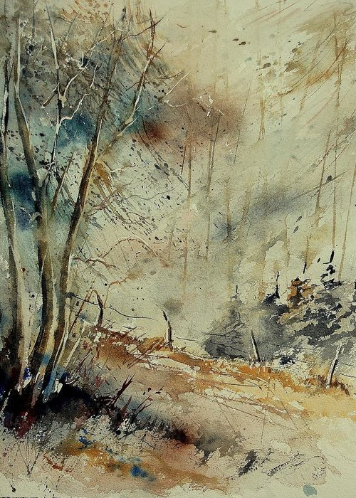 River Greeting Card featuring the painting Watercolor 902190 by Pol Ledent
