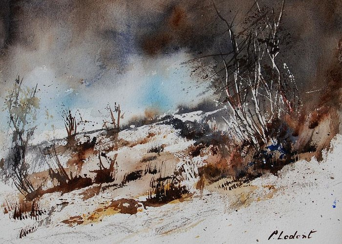 River Greeting Card featuring the painting Watercolor Jjook by Pol Ledent
