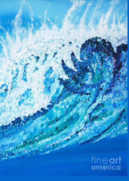 Ocean Greeting Card featuring the painting Watercolor by JoAnn DePolo