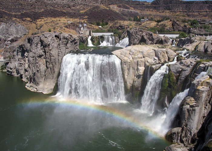 Waterfall Greeting Card featuring the photograph Waterfall Rainbow by Ty Nichols