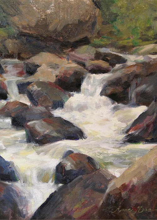 Rushing Water Greeting Cards