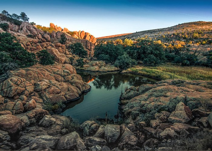 Prescott Greeting Card featuring the photograph Watering Hole by Jim Painter
