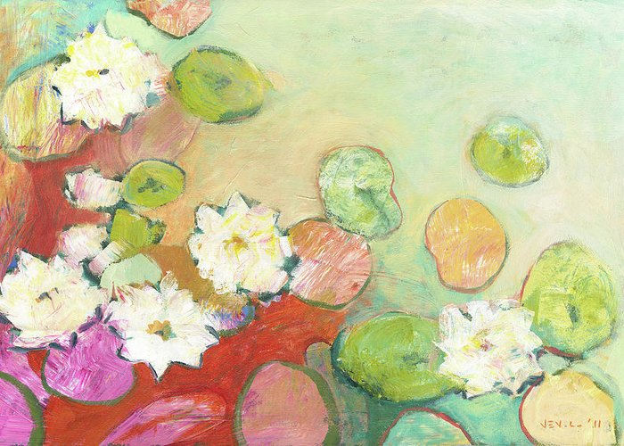 Lilly Pond Paintings Greeting Cards