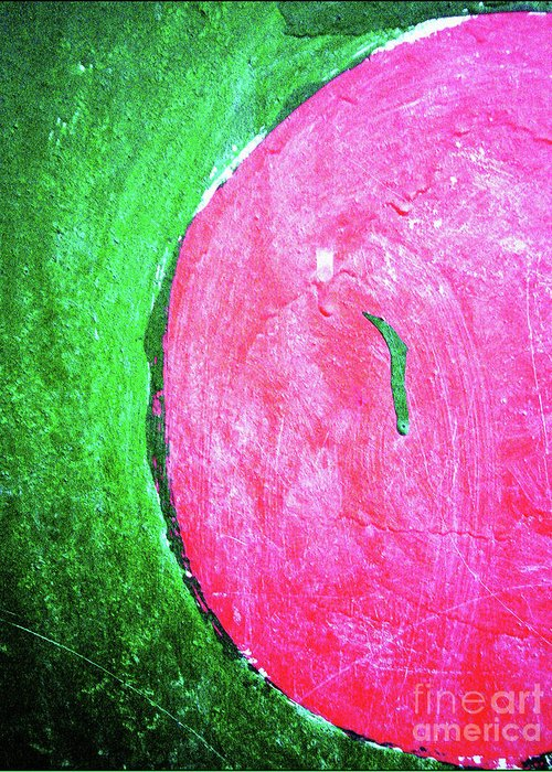 Watermelon Greeting Card featuring the photograph Watermelon by Inessa Burlak