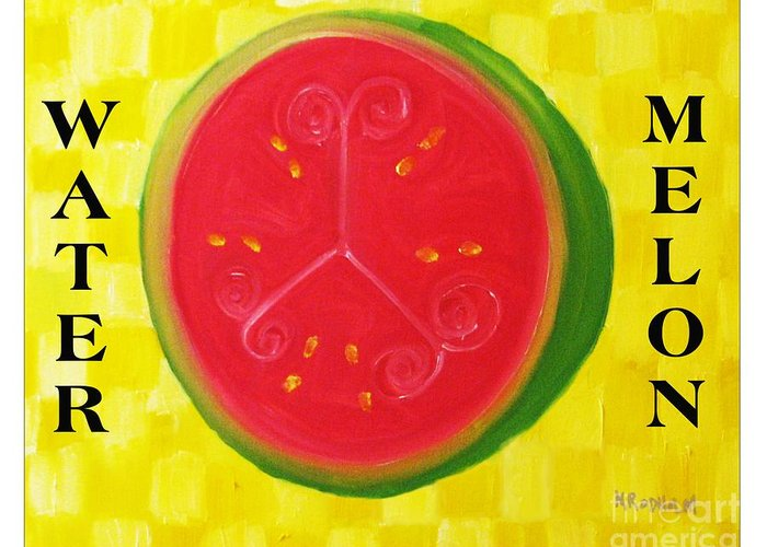 Watermelon Greeting Card featuring the painting Watermelon Time by Nathan Rodholm