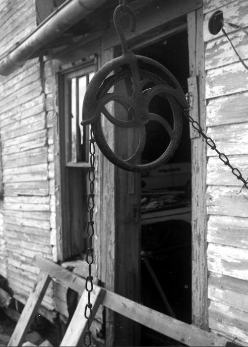 Ansel Adams Greeting Card featuring the photograph Waterpulley by Curtis J Neeley Jr