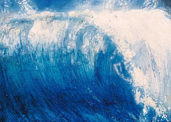 Oil Painting Greeting Card featuring the painting wave VI by Martine Letoile