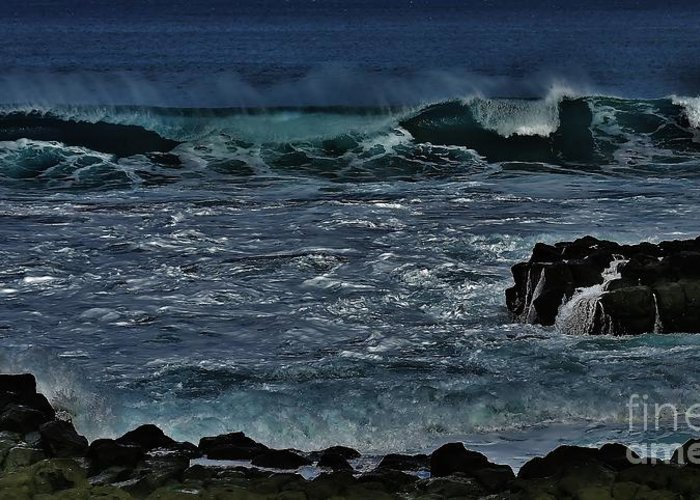Waves Greeting Card featuring the photograph Waves And Wind by Craig Wood