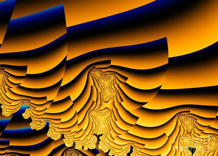 Fractal Image Greeting Card featuring the digital art Waves Of Grain by Ron Bissett