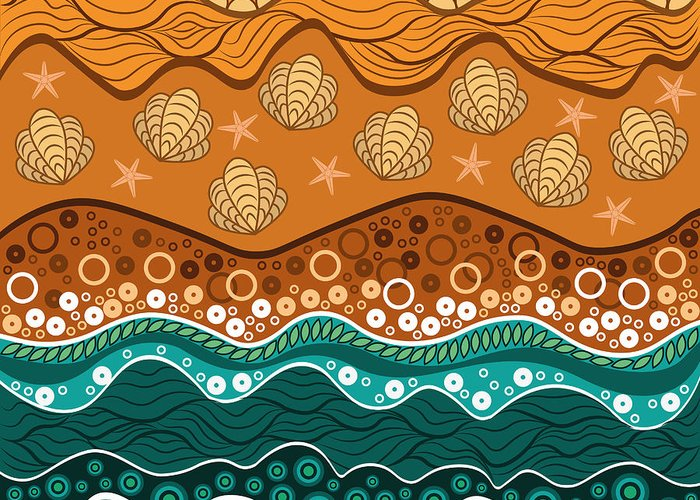 Water Greeting Card featuring the digital art Waves by Veronica Kusjen