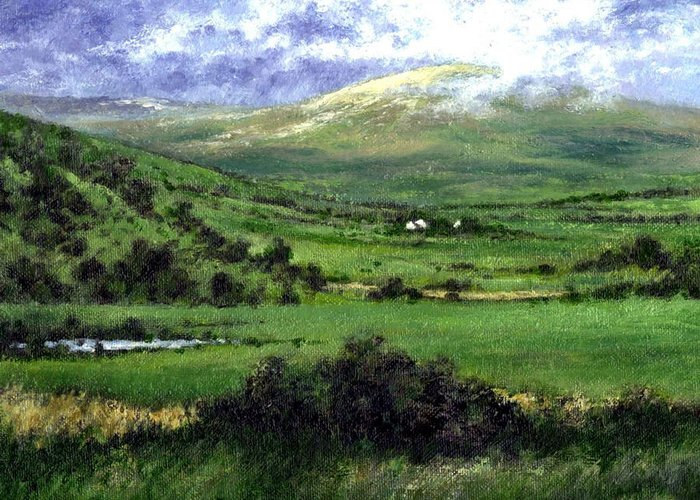 Landcape Greeting Card featuring the painting Way To Ardara Ireland by Jim Gola