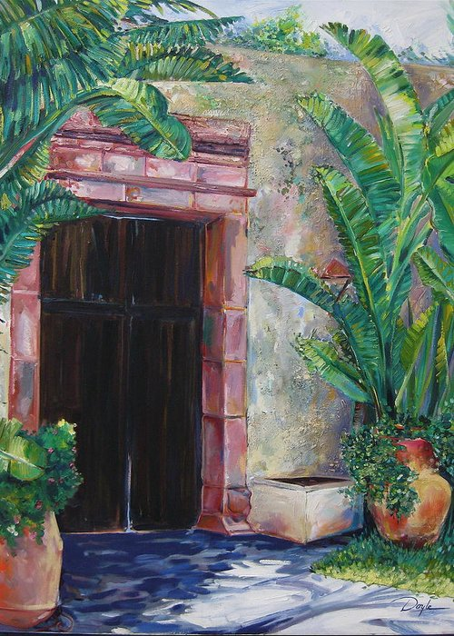Building Greeting Card featuring the painting Way To The Beach by Karen Doyle