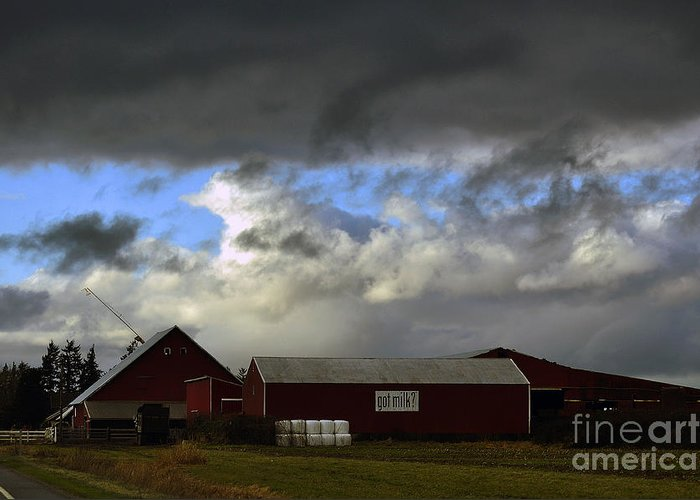 Clay Greeting Card featuring the photograph Weather Threatening The Farm by Clayton Bruster