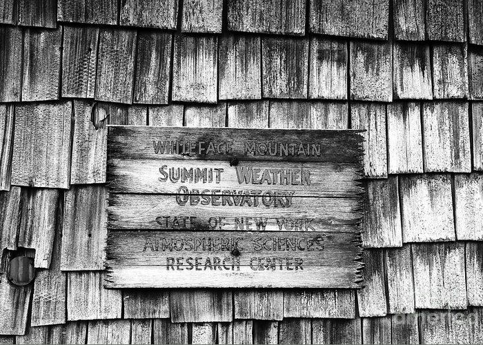 Weather Greeting Card featuring the photograph Weathered by David Lee Thompson