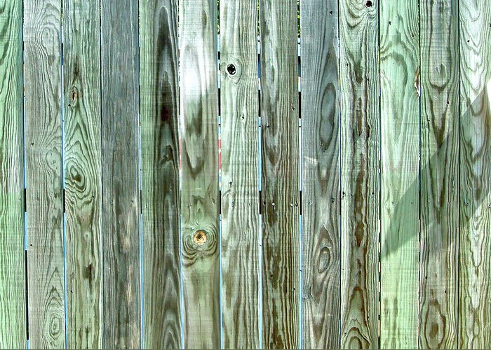 Weathered Greeting Card featuring the photograph Weathered Wood by Cathy Klopfenstein