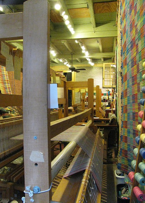 Looms Greeting Card featuring the photograph Weaver by Tom Hefko