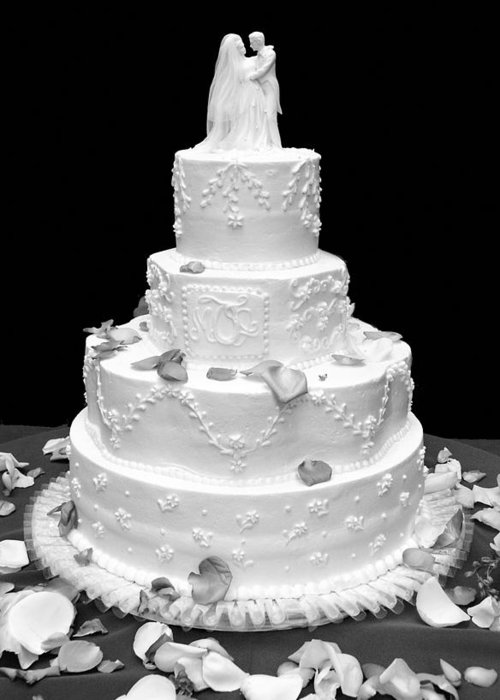 Wedding Greeting Card featuring the photograph Wedding Cake by Marilyn Hunt