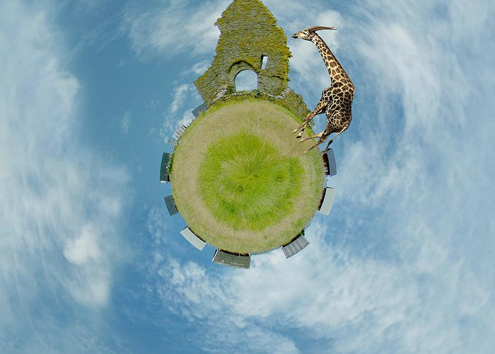 Wee Planet Greeting Card featuring the digital art Wee Chapel Ruins by Nikki Marie Smith