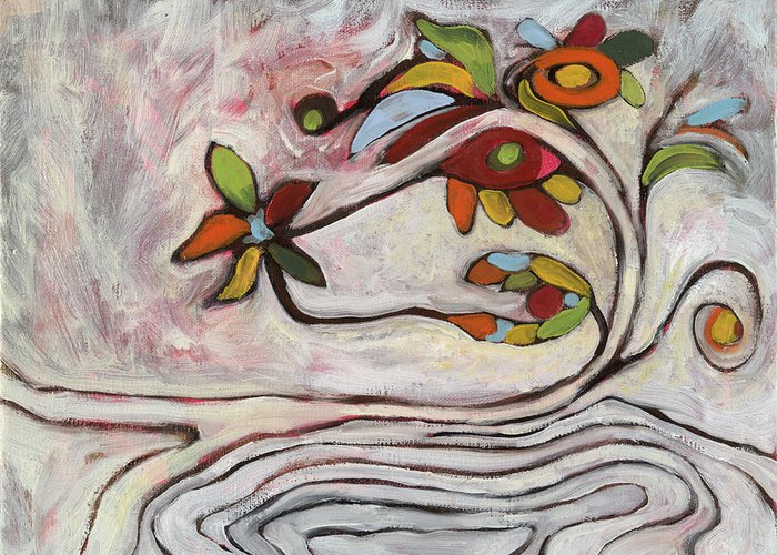 Abstract Greeting Card featuring the painting Weeds1 by Michelle Spiziri