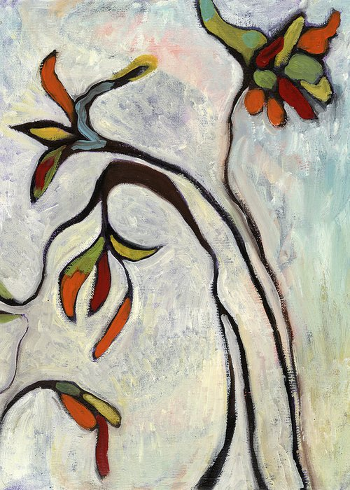 Painting Greeting Card featuring the painting Weeds2 by Michelle Spiziri