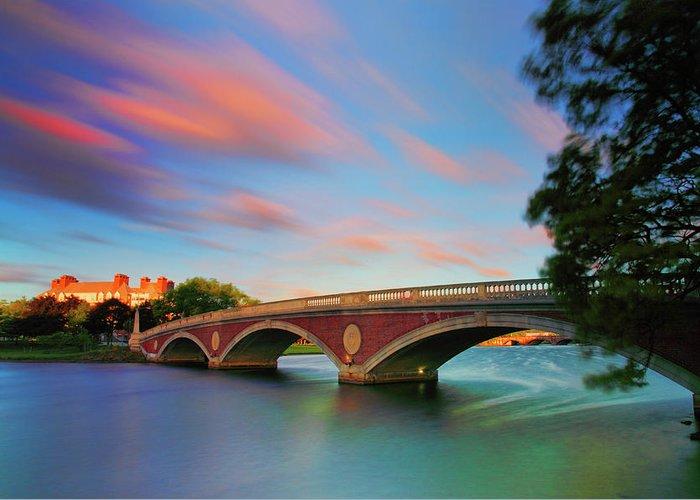 John W. Weeks Bridge Greeting Card featuring the photograph Weeks' Bridge by Rick Berk