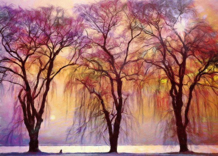 Willow Lake Mixed Media Greeting Cards
