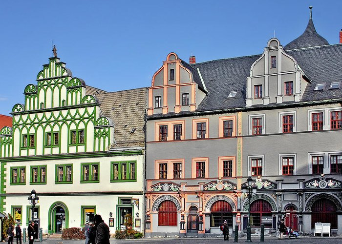 Weimar Greeting Card featuring the photograph Weimar Germany - A Town Of Timeless Appeal by Christine Till