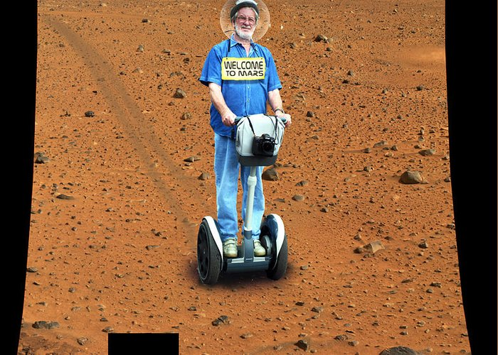 Segway Greeting Card featuring the photograph Welcom To Mars by Larry Mulvehill