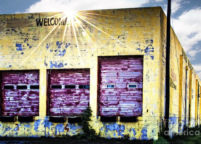 Sunburst Greeting Card featuring the photograph Welcome by Tamyra Ayles