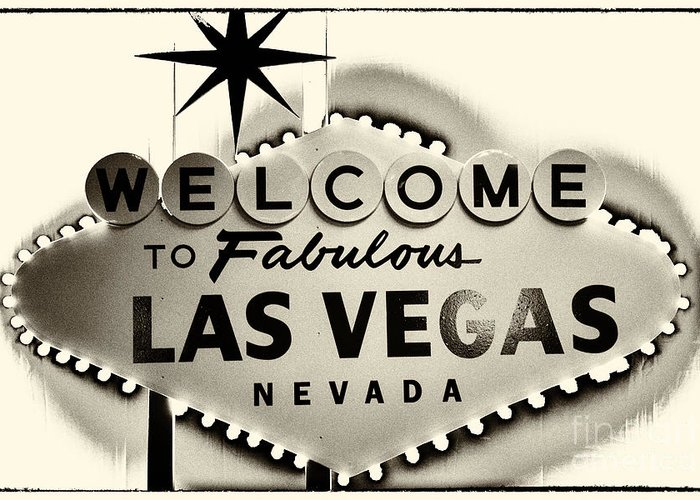 Las Vegas Greeting Card featuring the photograph Welcome To Fabulous Las Vegas Nevada by Leslie Leda