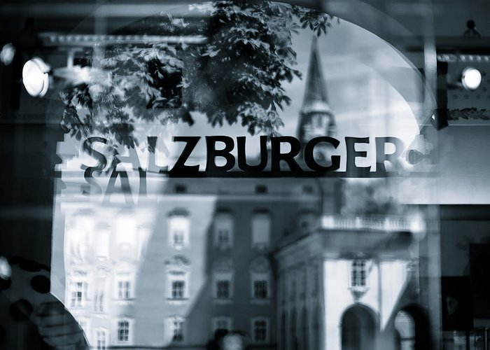 Salzburg Greeting Card featuring the photograph Welcome To Salzburg by Dave Bowman