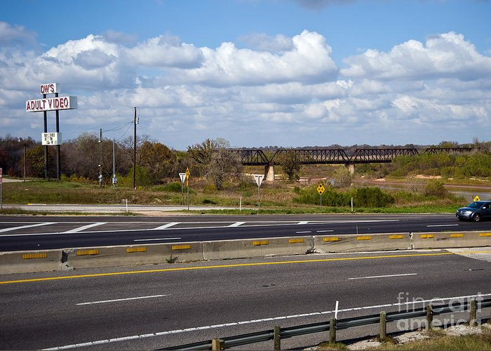 Landscape Greeting Card featuring the photograph Welcome To Texas by Fred Lassmann