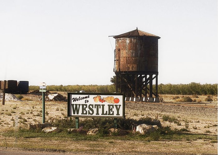 Landscape Greeting Card featuring the photograph Welcome To Westley by Karen W Meyer