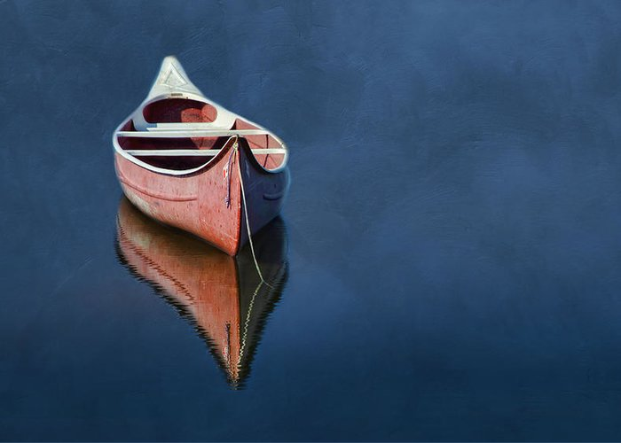Canoe.boat Greeting Card featuring the photograph Well Anchored by Robin-lee Vieira