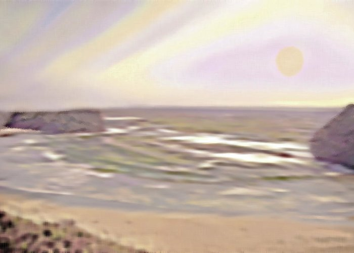Beach Greeting Card featuring the photograph West Coast 10 by Steve Ohlsen