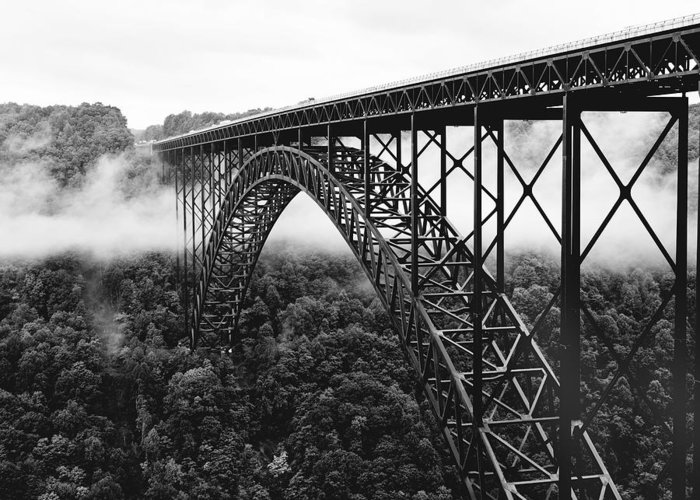 new River Gorge Bridge Greeting Card featuring the photograph West Virginia - New River Gorge Bridge by Brendan Reals