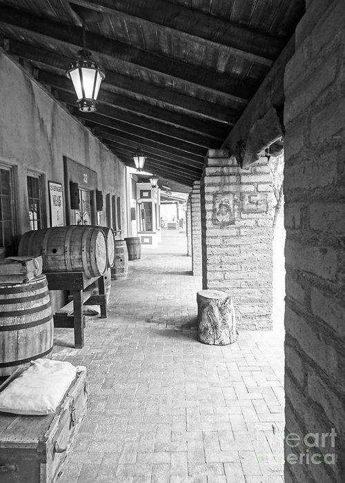 Barrel Greeting Card featuring the photograph Western Alley 1 by Korynn Neil