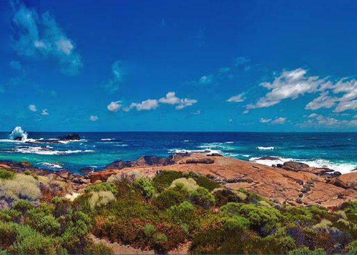 Boodjidup Beach Greeting Card featuring the photograph Western Australia Beach Panorama by David Zanzinger