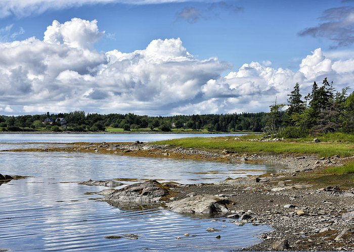 western Bay Maine Greeting Card featuring the photograph Western Bay - Oldhouse Cove Near Trenton Maine by Brendan Reals